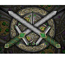 Crossed Celtic Daggers Photographic Print