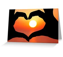 Heart Shapes Greeting Card