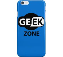 Laptop Funny Geek Zone Sign iPhone Case/Skin