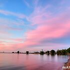 """a pink sunset in port"" by Rex  Montalban"