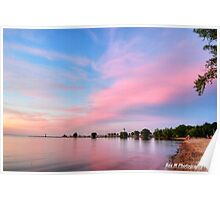 """""""a pink sunset in port"""" Poster"""