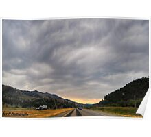 """""""storm clouds over montana"""" Poster"""