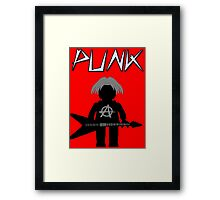 Punk Guitarist Minifig by Customize My Minifig Framed Print