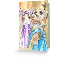 Dame Vivian Meerkat Greeting Card