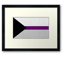 Demisexual Flag- Painted on a Wall Framed Print