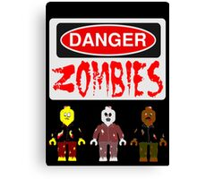 DANGER ZOMBIES Canvas Print