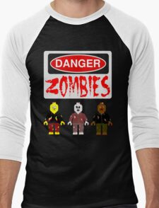 DANGER ZOMBIES Men's Baseball ¾ T-Shirt