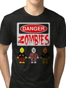 DANGER ZOMBIES Tri-blend T-Shirt