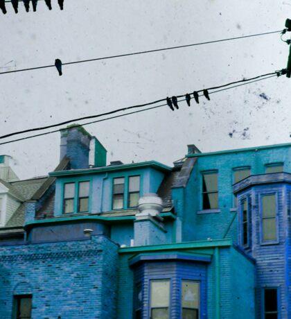 little blue houses Sticker