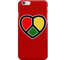 Rasta heart!  iPhone Case/Skin