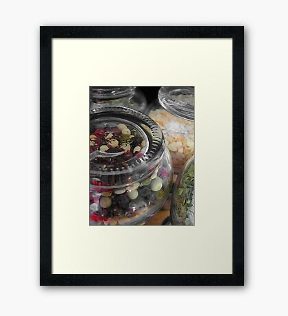Herbs and spices 1 Framed Print