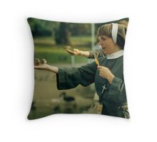 Out of my hand Throw Pillow