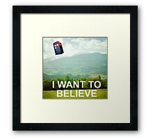 The Doctor is Out There Framed Print