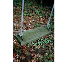 Oh! What Magic A Swing Can Bring! Photographic Print