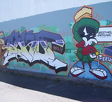 Wile-E Coyote and Marvin the Martian by JayJay70