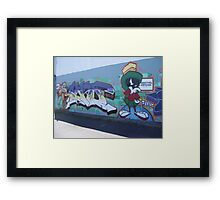 Wile-E Coyote and Marvin the Martian Framed Print