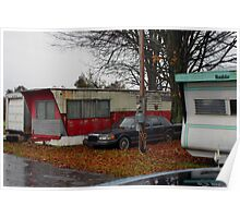 Trailer Park In The Rain Poster