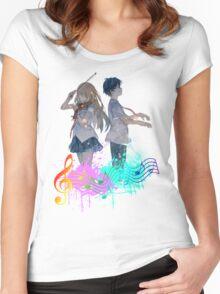 Shigatsu wa kimi no uso Women's Fitted Scoop T-Shirt