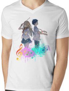 Shigatsu wa kimi no uso Mens V-Neck T-Shirt