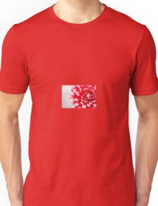 Red and White Dahlia Flower Unisex T-Shirt