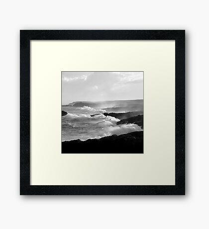 Ness, Isle of Lewis - White Horses Framed Print