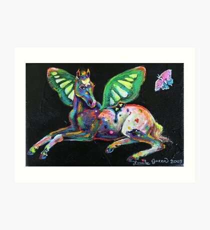 Little Butterfly Pony (for Kath) Art Print