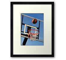 Going for a Basket! Framed Print