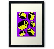 1 x 1 Bricks (AKA Falling Bricks)  Framed Print