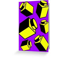 1 x 1 Bricks (AKA Falling Bricks)  Greeting Card