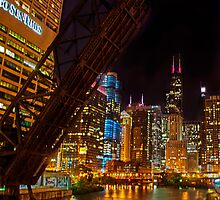 Chicago at night by carlina999