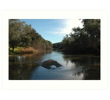 Peace on a Country River Art Print