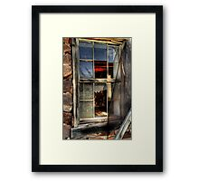 Torn Screen.. Broken Dreams Framed Print