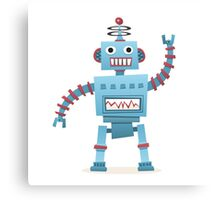 Cute and fun retro robot Canvas Print