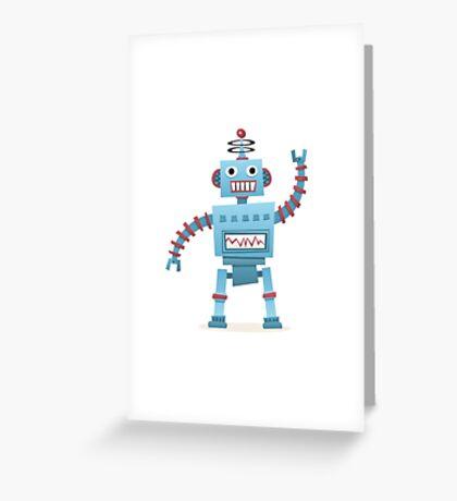 Cute and fun retro robot Greeting Card