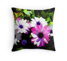 Floral Electrified Throw Pillow