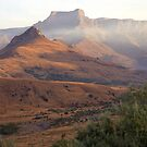 Golden Amphitheatre - Mount aux Sources, Drakensberg by Fineli
