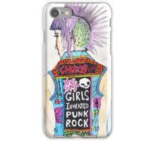 Girls Invented Punk Rock iPhone Case/Skin