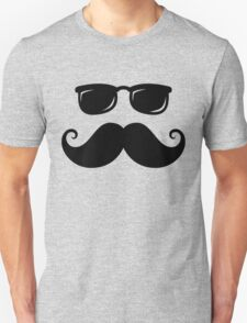 Mustache and sunshades Unisex T-Shirt
