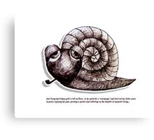 Little Profiles Chilled Snail Canvas Print