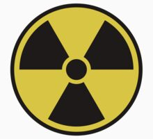 Nuclear radiation symbol, black border by Mhea