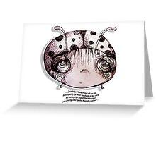 Little Profiles Unladylike Ladybird Greeting Card
