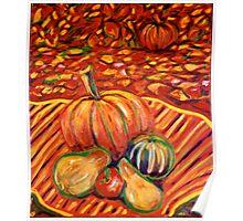 """Fall Pumpkins At Harvest"" - October In Rhode Island Poster"