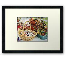 Fall Goodies Framed Print