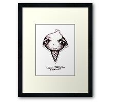 Little Profiles Queunliskanphobia (Saliva Phobia) Framed Print
