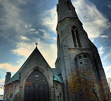 St. Mary's Cathedral Columbus Circle, Syracuse NY by photoescapist