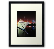 Long Beach Marina at Night Framed Print