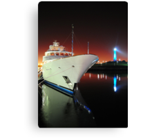 Long Beach Marina at Night Canvas Print
