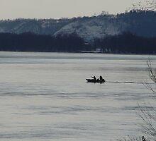 Fisherman on the Susquehanna River by smalshbarrick