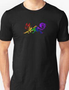 Rainbow Tribal Cat T-Shirt