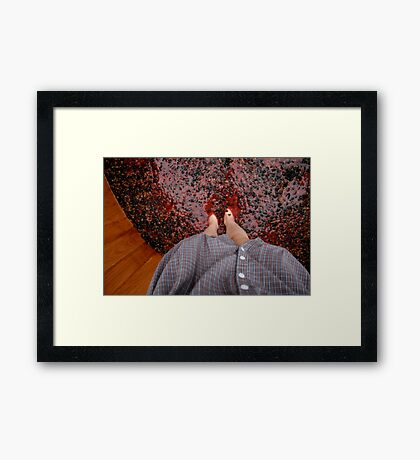 Perspective Stomping Grapes Framed Print